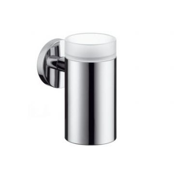 Hansgrohe Logis Chrome Glass toothbrush tumbler with holder 40518000